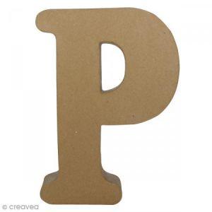 decopatch Lettre fantaisie «P» - papier mâché