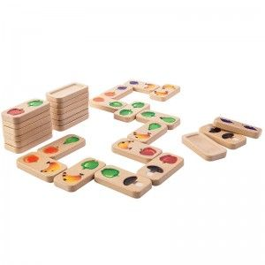 Plan Toys Domino Fruits & Légumes en bois
