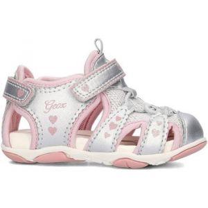 Image de Geox B Sandal Agasim Girl C, Chaussures Marche bébé fille, Argent (SILVERC1007), 23 EU