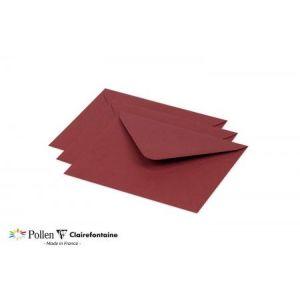 Clairefontaine 60180C Enveloppe Pollen 15,5 x 13,8 cm 120g paquet de 20 Bordeaux
