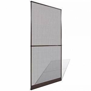 VidaXL Moustiquaire à charnières marron pour porte 100 x 215 cm