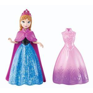 Mattel Disney la Reine des Neige Anna et robe à paillettes Magiclip