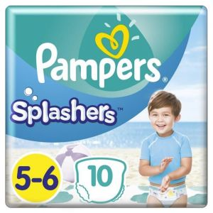 Pampers Splashers taille 5-6 (14 kg+) - Lot de 4 x 40couches-culottes de bain jetables
