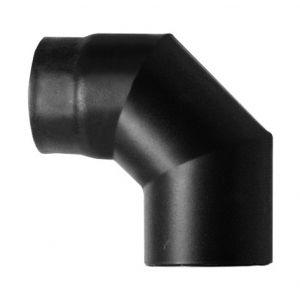 MBM Courbe de combustion 90 ° dn 140 émaillée peint 600 degrés pour poêle à pellets ou d'un tube en acier émaillé noir de bois 600 degrés this made in Italy