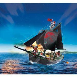 Playmobil 5238 Pirates - Bateau des corsaires avec moteur submersible radio-commandé