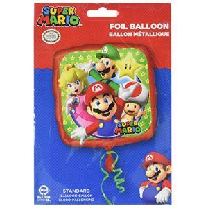 Amscan Ballon en aluminium Super Mario Bros