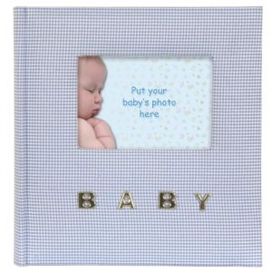 BABY GINGHAM Album photo - 10 x 15 cm - Bleu - BABY GINGHAM Album photo - 100 pochettes - 10 x 15 cm - Bleu