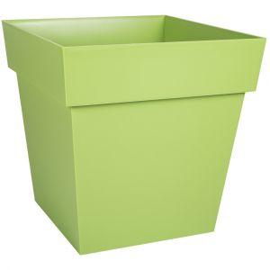 Eda Plastiques Pot toscane carre 38l vert matcha ref.13627 v.mc