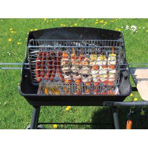 Somagic 325738 - Barbecue bois à foyer vertical bi-cuisson