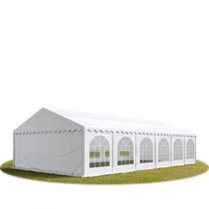 Intent24 TOOLPORT Tente Barnum de Réception 6x12 m ignifugee PREMIUM Bâches Amovibles PVC 500 g/m² blanc Cadre de Sol Jardin.FR