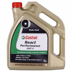 Castrol REACT Performance DOT 4 5 Litre(s) jerricane