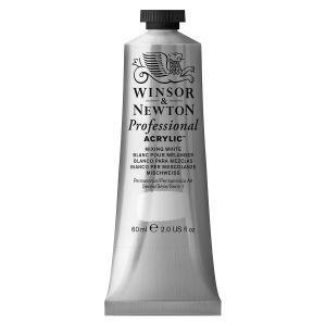 Winsor & Newton Tube de «Professional Acrylic Colour» 60ml - blanc pour melanges -