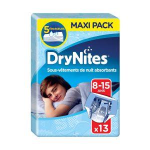 Huggies Culottes De Nuit Garçon T 8-15 Ans Drynites - Le Paquet De 13