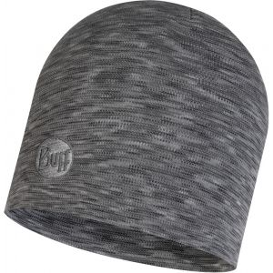 Buff Couvre-chef -- Heavyweight Merino Wool Key Style - Fog Grey Multi Stripes - Taille One Size