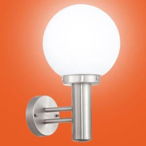 Eglo 30205 - Applique extérieure montante Nisia en acier inoxydable et verre H 36 cm