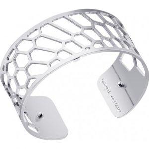 Les Georgettes Bracelet Nid d'abeille Argent Medium