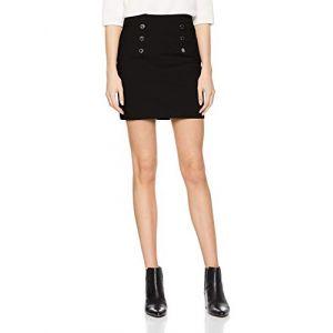 Morgan Mini-jupe à boutons Noir