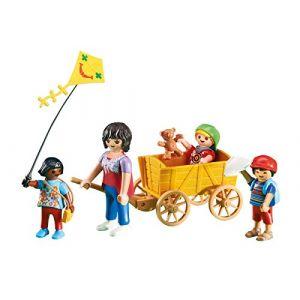 Playmobil 6439 - Éducatrisse de garderie avec enfants et charrette