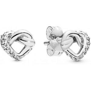 Pandora Boucles d'Oreilles 298019CZ - Liens de l?Amour en Argent