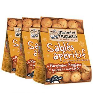 Michel et augustin Sablés Apéritifs Parmesan Moutarde 120 g