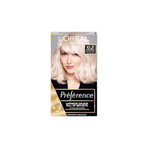 L'Oréal Preference Infinia 10.21 Stockholm Very Light Pearl Blonde Hair Dye
