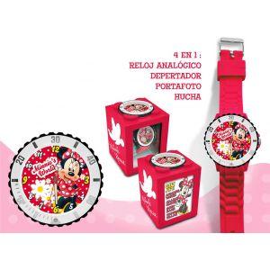 Coffret montre + tirelire + réveil Minnie Mouse pour fille
