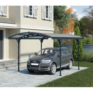 Chalet et Jardin HISPANO 5000 - Carport en aluminium gris et polycarbonate 14,2m²