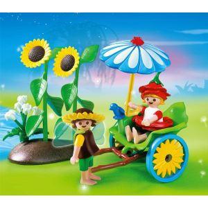 Playmobil 4197 - Fée et lutin avec pousse-pousse
