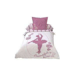 Les douces nuits de Maé Parure housse de couette Beautiful Ballerina Dance (140 x 200 cm)