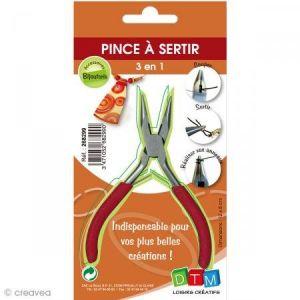 DTM Pince à sertir les perles - Loisirs créatifs - 3 en 1