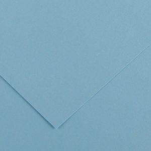 Canson 200040397 - Feuille Iris Vivaldi 50x65 240g/m², coloris bleu ciel 20