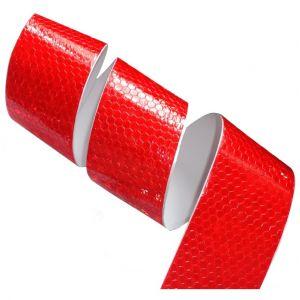 Aerzetix 4.5m 5cm Bande rouge adhésive de marquage réfléchissante retroréfléchissante