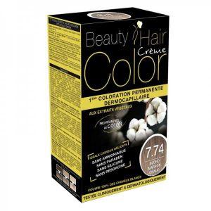 Eric favre Beauty Hair Color 7.74 Blond Marron Chaud - Coloration permanente dermocapillaire aux extraits végétaux