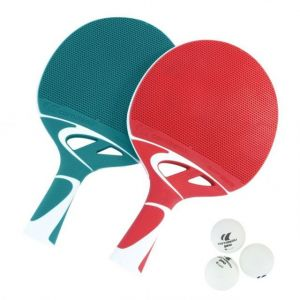 CORNILLEAU Pack Duo Tacteo - 2014 : 2 Raquettes + 3 Balles De Ping Pong Tennis De Table