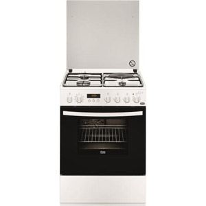 Faure FCM6560P - Cuisinière mixte 3 brûleurs gaz avec four électrique