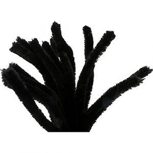 Creotime Lot de 50 cure-pipes épaisseur 6 mm L 30 cm Noir