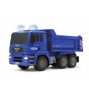 Jamara Camion benne radiocommandée de la police Allemande bleue 1:20