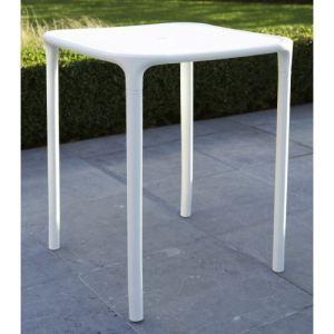 Wilsa Table de jardin carrée Green Garden en résine plastique moulée 59 x 59 x 72 cm