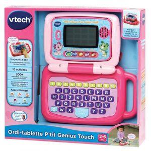Vtech Ordi tablette - P'tit Genius Touch - Mauve