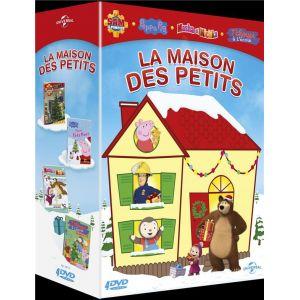 La Maison des petits - Coffret: Sam le Pompier - Volume 6 : Les préparatifs de Noël + Peppa Pig - Peppa fête Noël + Masha et Michka - 7 - Tous sur la glace + T'choupi à l'école - L'étoile de Noël [DVD]