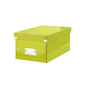 Leitz 6042-00-64 - Boîte de rangement Click & Store, format DVD, en PP, coloris vert métallique