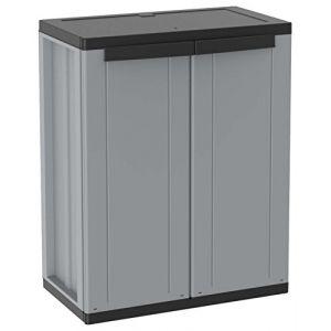 Meuble en résine 2 portes étagère interne J-LINE 68