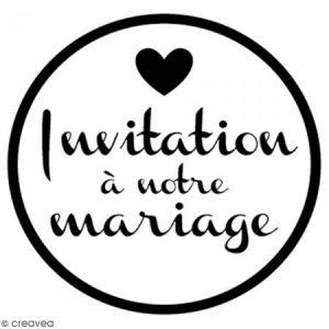 Artémio Tampon bois rond 3 cm - Invitation mariage