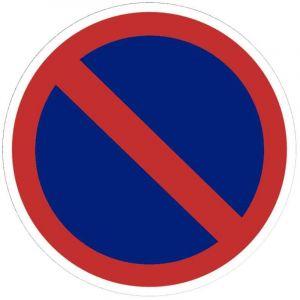 Viso Panneau signalétique en PVC rond adhésif - Stationnement interdit