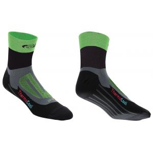 BBB cycling Soquettes ErgoFeet ThermoCool (noir/vert) - BSO-04 - 43-46
