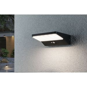 Paulmann 94335 Applique murale d'extérieur solaire LED IP44 Blanc chaud Avec 1 x 3,4 W Éclairage extérieur Gris foncé Lampe d'extérieur en aluminium 3000 K