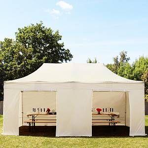 Intent24 Tente pliante 3x6 m sans fenêtre beige PROFESSIONAL tente pliable ALU pavillon barnum.FR