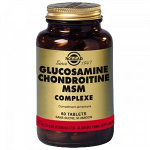 Solgar Glucosamine chondroïtine msm complexe, 60 comprimés