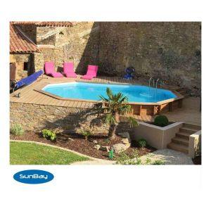Sunbay Piscine bois CANNELLE 5.51 x 3.51 x H. 1.19 m