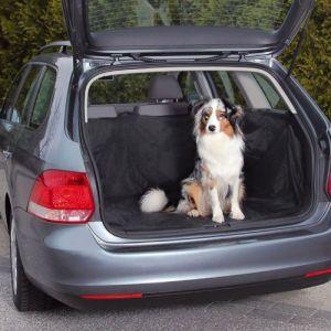 Trixie Couverture noire de protection pour coffre de voiture pour chiens Taille L